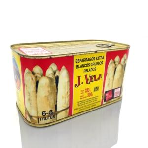 Comprar online Espárragos extra gruesos de Navarra conservas J Vela 6-8 frutos