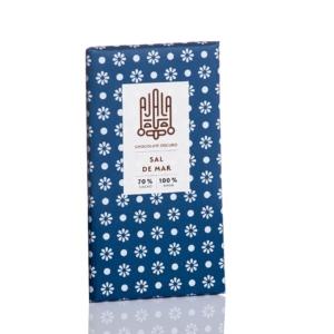 Tableta de chocolate 70% cacao Ajala con sal marina a domicilio