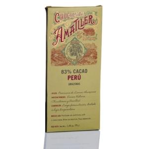 Amatller chocolate 83 % cacao Perú 70 grs al mejor precio